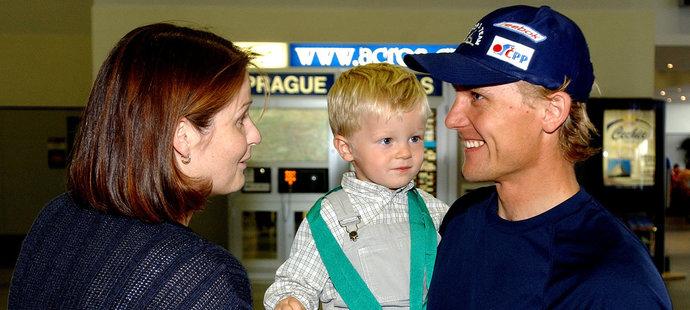 Martin Doktor s manželkou a synem