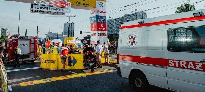 První etapa závodu Kolem Polska skončila šíleným pádem nizozemského cyklisty Fabia Jakobsena