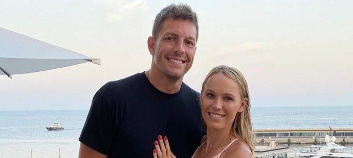 Bývalá tenistka Caroline Wozniacká s manželem Davidem