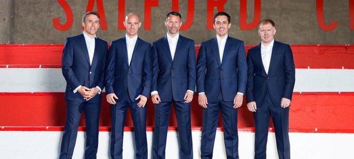 Fotbalové legendy Manchesteru United, které spoluvlastní klub Salford City