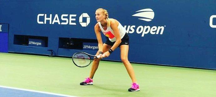 Petra Kvitová při tréninku na US Open