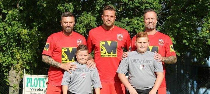 Tomáš Řepka, Štěpán Kacafírek a Martin Jiránek by měli být hlavními tahouny Červených Janovic v III. třídě na Kutnohorsku