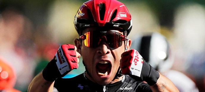 Caleb Ewan při dojezdu třetí etapy Tour de France