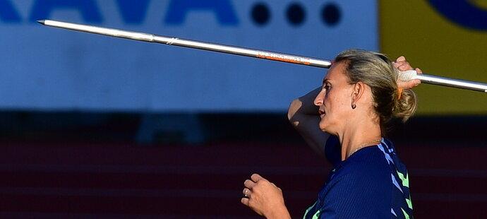 Barbora Špotáková ovládla soutěž oštěpařek na Zlaté tretře potřetí v kariéře