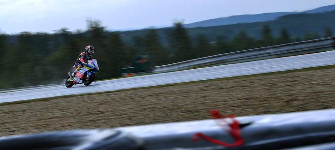 Český motocyklový závodník Filip Salač na brněnské Grand Prix