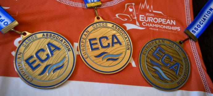 Medaile určené pro mistrovství Evropy v pražské Troji
