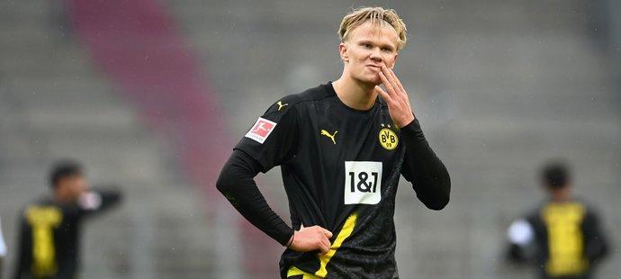 Erling Braut Haaland po prohře Dortmundu s Augsburgem