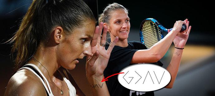 Nové božské tetování tenistky Karolíny Plíškové: Víme, co znamená!