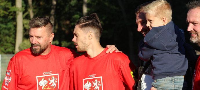 Václav Kadlec s Tomášem Řepkou v dresu Červených Janovic