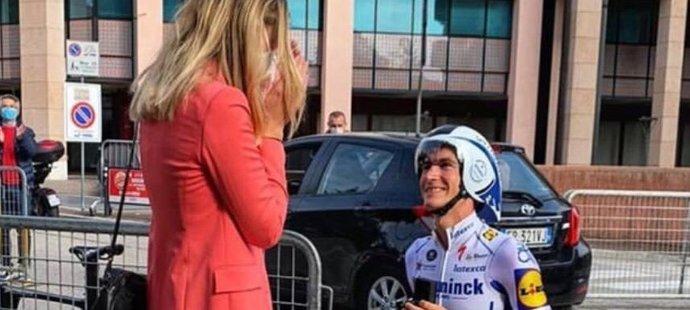 Dánský cyklista Mikkel Frølich Honoré a italská basketbalová trenérka Marilisa Zaniniová se zasnoubili