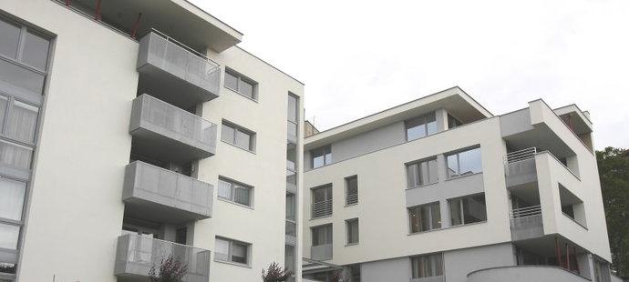 Luxusní čtvrť nad Hradem, kde se nachází nový Andrein byt