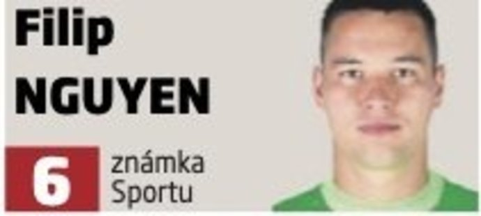 Filip Nguyen v zápase s Crvenou zvezdou