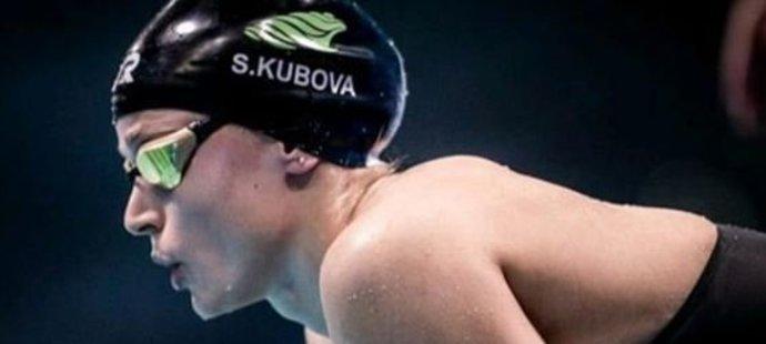 Simona Kubová vylepšila vlastní český rekord na 50 metrů znak