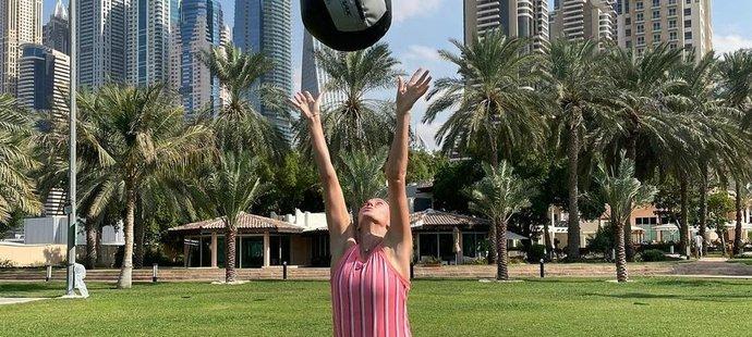 Petra Kvitová se v Dubaji pilně chystá na novou sezónu.