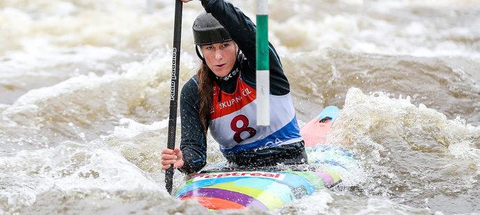 Půvabná Kateřina Minařík Kudějová navázala na bývalé hvězdy českého vodního slalomu