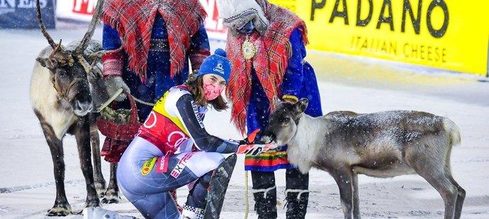 Petra Vlhová dostala za triumf ve finském Levi i jeden neobvyklý dar