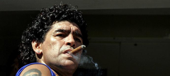 Diego Maradona nedodržoval přísně životosprávu