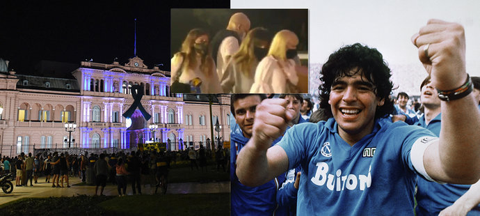 Poslední rozloučení probíhá v Prezidentském paláci v Buenos Aires.