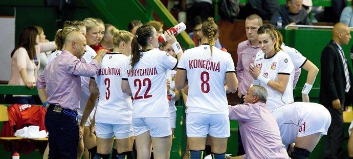 České házenkářky během kvalifikace o ME 2020