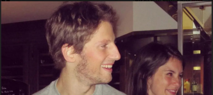 Romain Grosjean s manželkou Marion