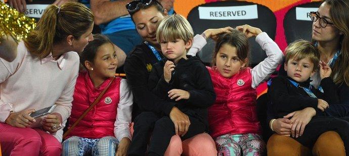 Děti Rogera Federera mají kladný vztah k tenisu i klavíru