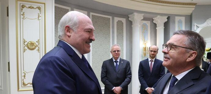 Běloruský prezident Alexandr Lukašenko jednal s René Faselem
