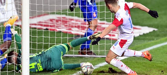 Slavia porazila Olomouc i díky dvěma brankám Jana Kuchty