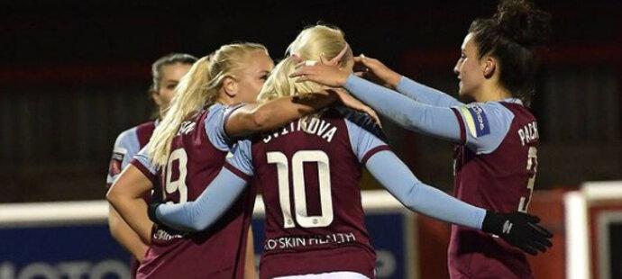 Kateřina Svitková dala první gól za West Ham