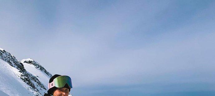 Česká snowboarďačka Šárka Pančochová je aktuálně ve Švýcarsku