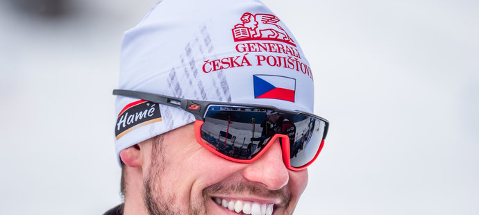 Michal Krčmář při sprintu na MS