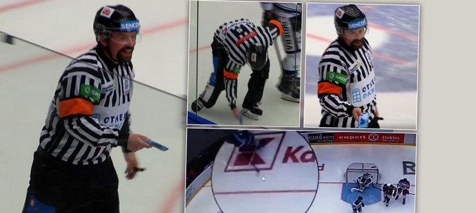 Bizarní situace. Zápas v Plzni přerušil mobil na ledě! Vypadl hráči z výstroje