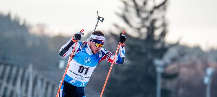 Michal Krčmář jako jediný ve sprintu bodova
