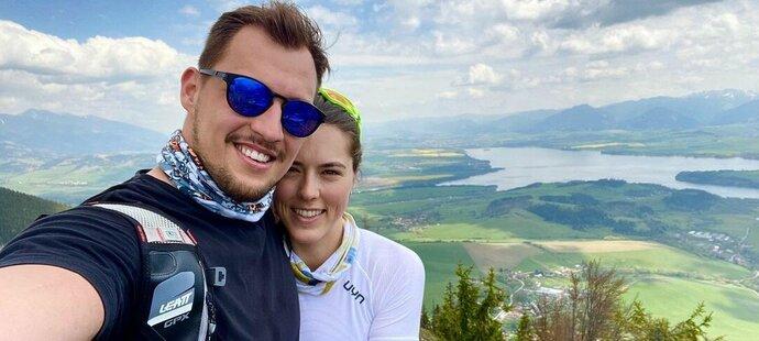 Petra Vlhová s přítelem Michalem