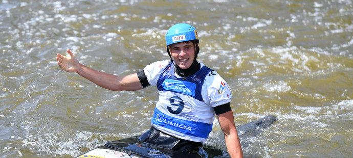 Vodní slalomář Lukáš Rohan