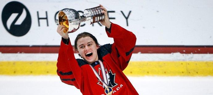 Connor Bedard byl v 15 letech nejmladším hráčem na mistrovství světa osmnáctek