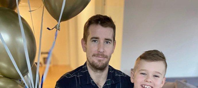 Romanu Červenkovi dělá radost osmiletý syn Denis