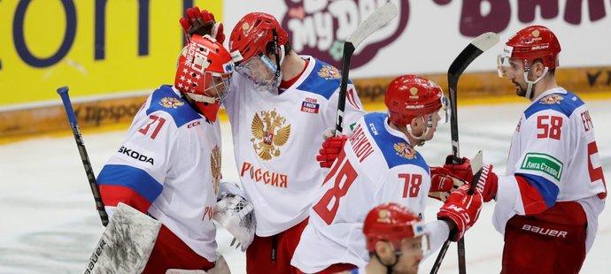 Rusové vyhráli i desáté utkání v nynější sezoně Euro Hockey Tour