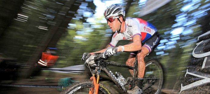 Biker Ondřej Cink dojel v závodě SP v cross country v Novém Městě na Moravě stejně jako před týdnem v Albstadtu čtvrtý