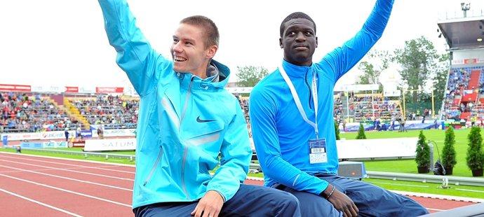 Pavel Maslák a Kirani James na zahájení Zlaté tretry v roce 2013