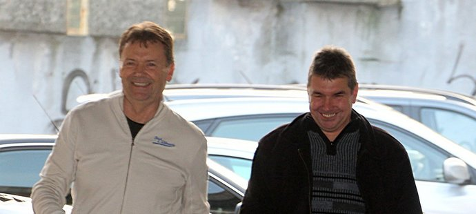 Roman Berbr a Jan Hořejší (vpravo)
