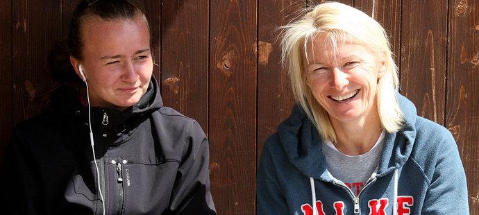 Jana Novotná (vpravo) měla na kariéru Barbory Krejčíková zásadní vliv