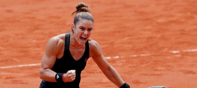 Maria Sakkariová se v semifinále utká s Barborou Krejčíkovou