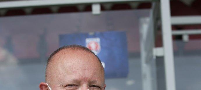 Předseda FAČR Petr Fousek na tréninku české fotbalové reprezentace