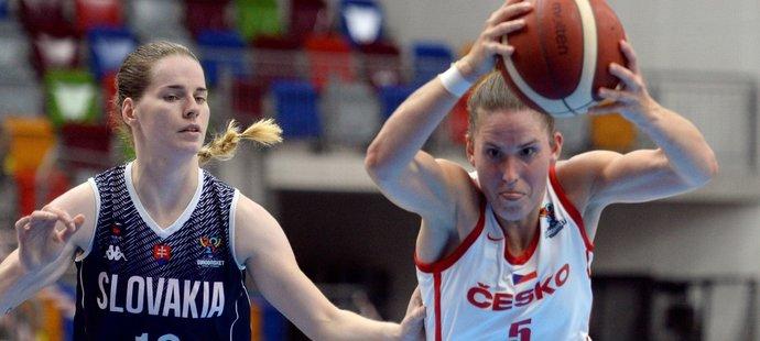 České basketbalistky si v přípravě na mistrovství Evropy poradily se Slovenkami