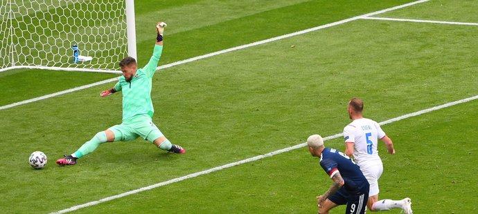 Tomáš Vaclík proti Skotsku odehrál skvělý zápas