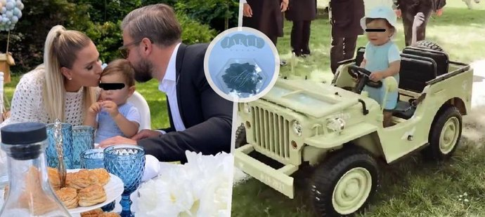 Dominika Cibulková s manželem Michalem Navarou uspořádali milovanému Jakubovi vskutku nebeskou oslavu!
