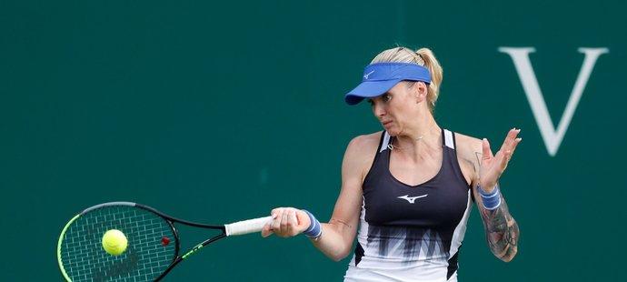 Česká tenistka Tereza Martincová slaví postup do čtvrtfinále na turnaji v Birminghamu