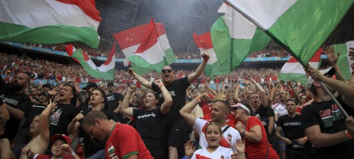 Bouřlivá oslava maďarské branky v duelu s Francií