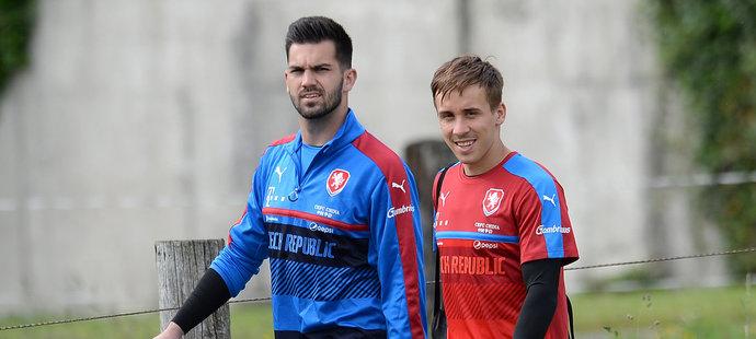 Tomáš Koubek s Josefem Šuralem na reprezentačním srazu