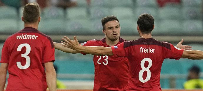 Švýcarsko - Turecko 3:1. Shaqiri pálil, vítězové mohou zamotat český postup